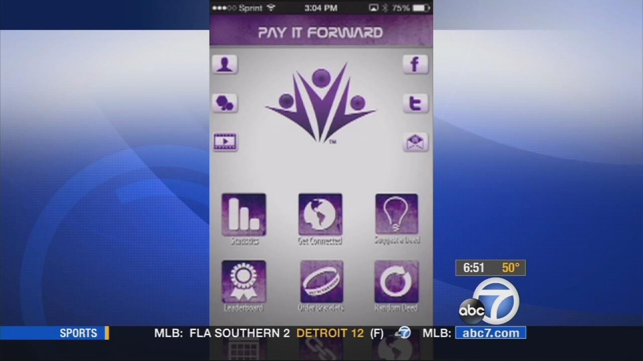 A screenshot of the Pay It Forward app.