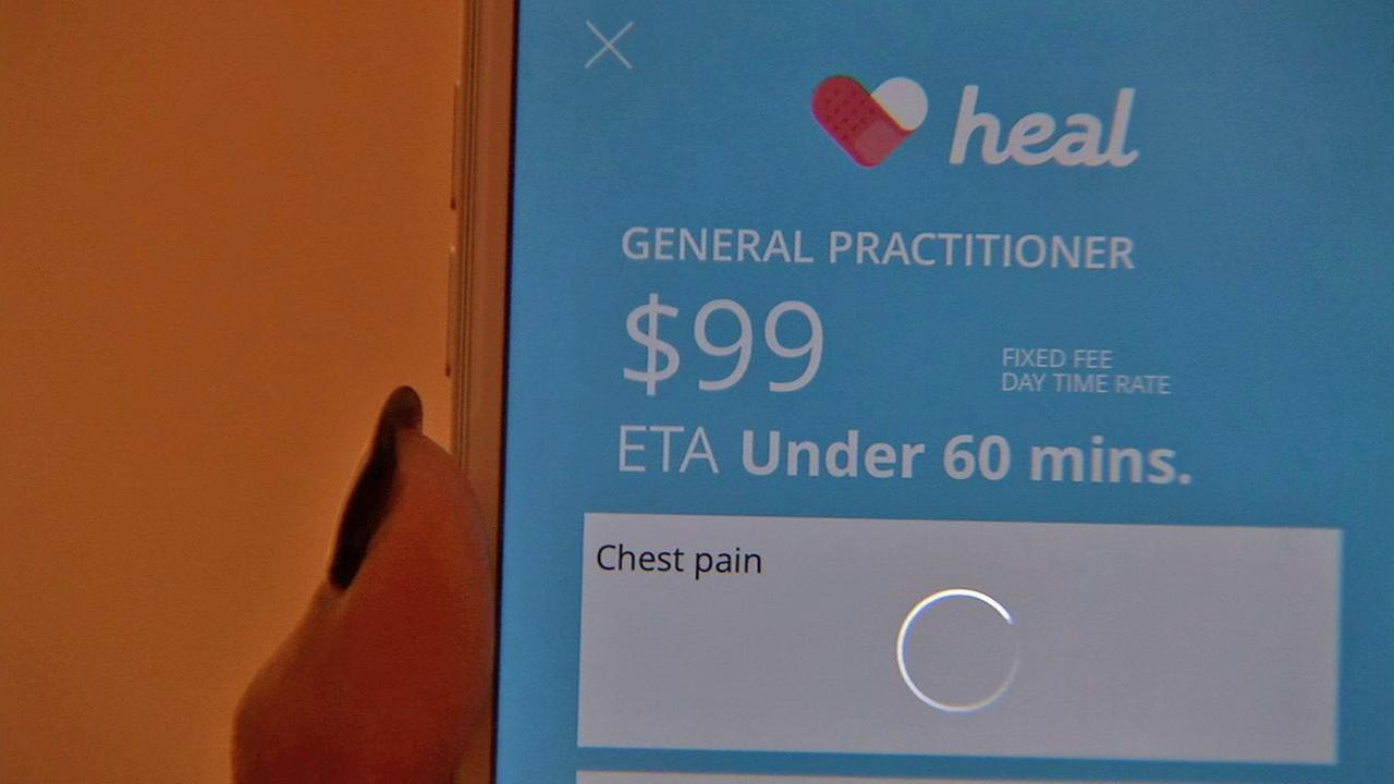 A new mobile application can bring a doctor right to a patients front door for a small fee. Its similar to the ride-share service Uber.