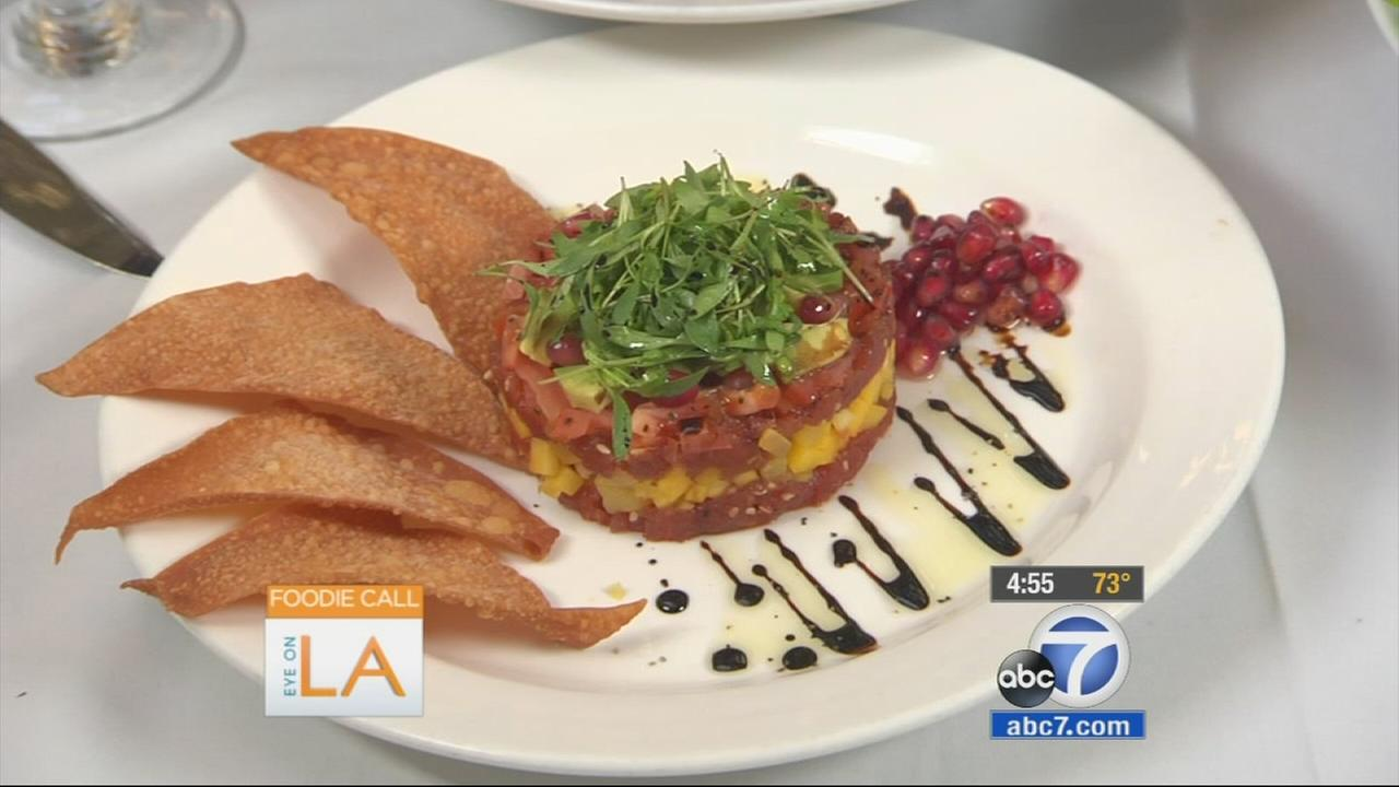 Pump in West Hollywood serves a tuna tartar with pomegranate seeds.