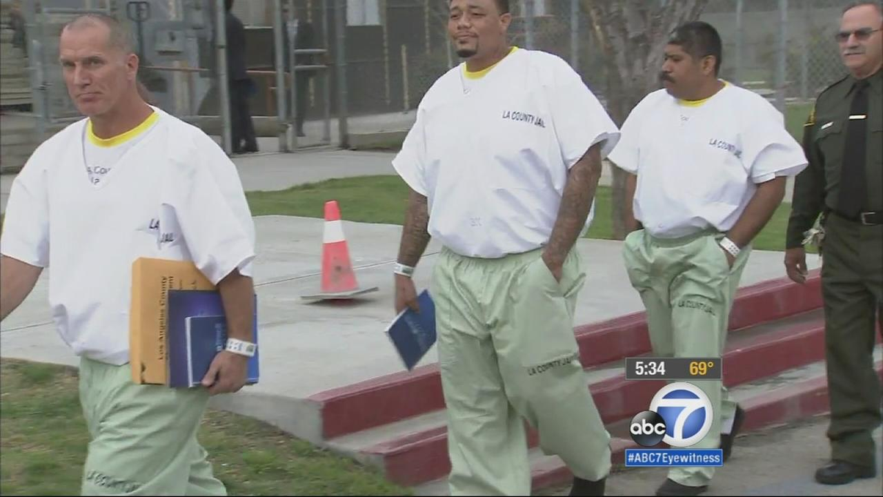 Inmates at Pitchess Detention Center in Castaic are shown in this undated file photo.