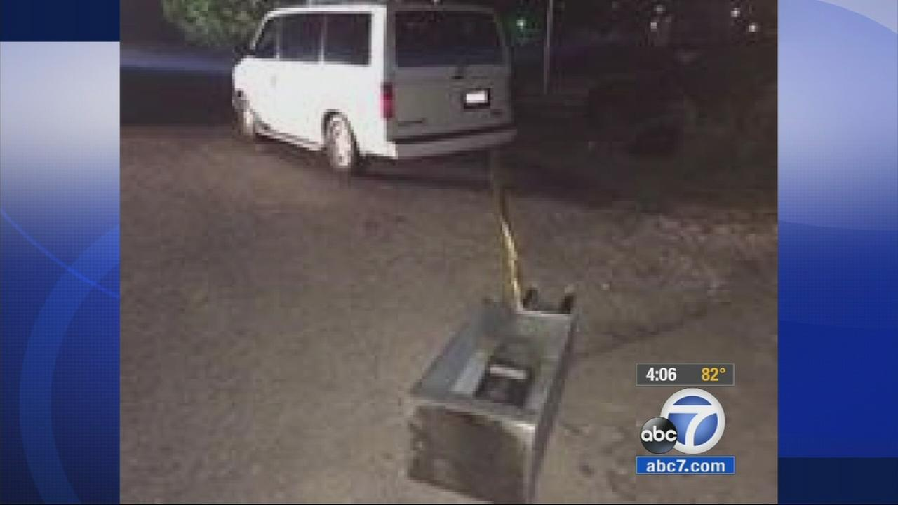 A pay phone was stolen in Bloomington Wednesday morning, and the crime was caught on camera.