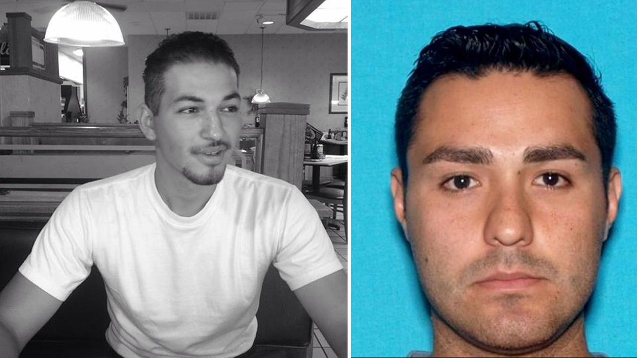 Henry Solis (right) is a person of interest in the murder of 23-year-old Salome Rodriguez Jr., who was shot to death in Pomona on Friday, March 13, 2015.
