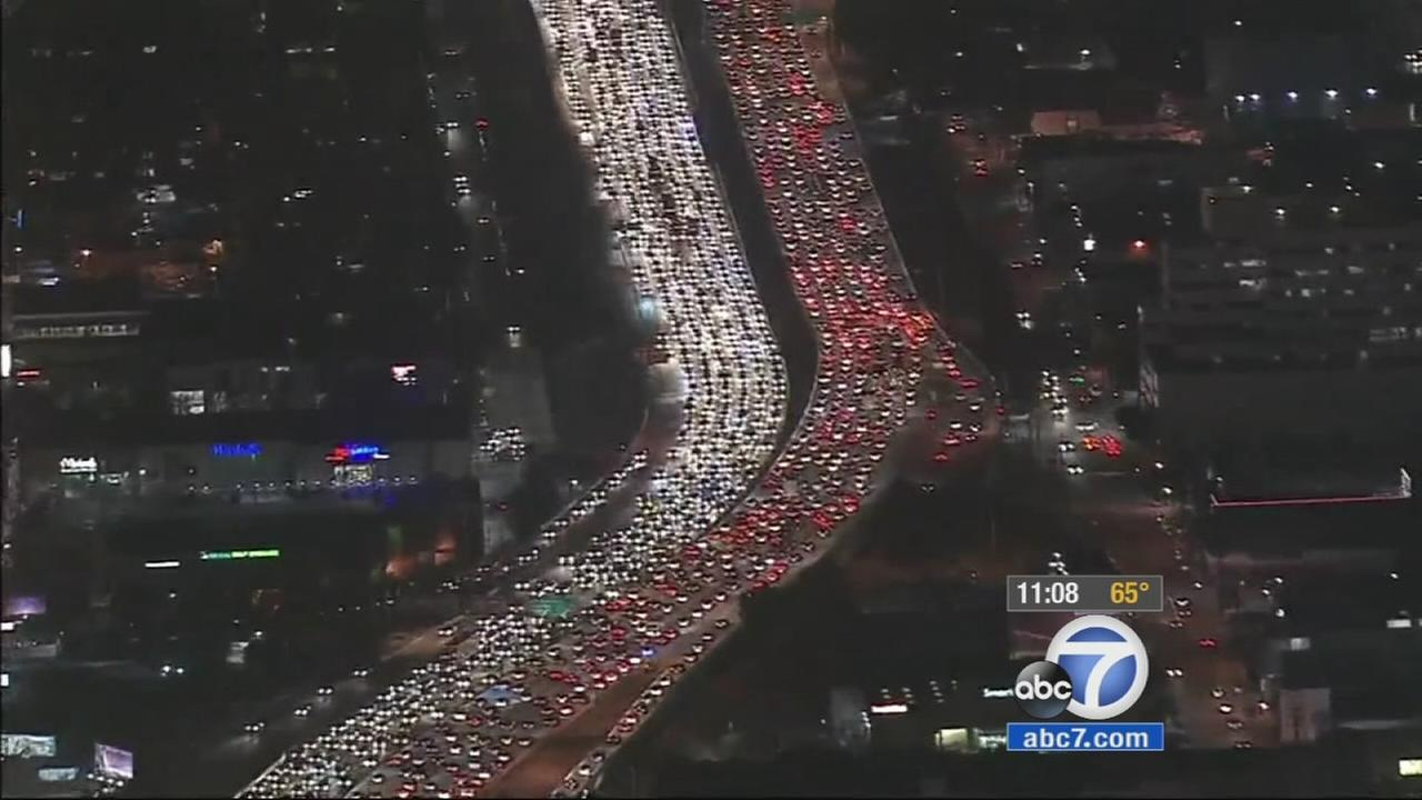 Freeway Widening Project Does Little To Improve Traffic Abccom - Los angeles freeway map traffic