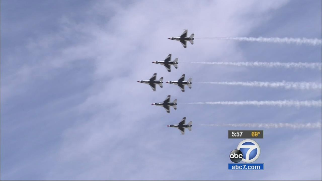 The Los Angeles County Air Show kicked off this weekend in Lancaster with a lot of thrilling sights for aviation fans.