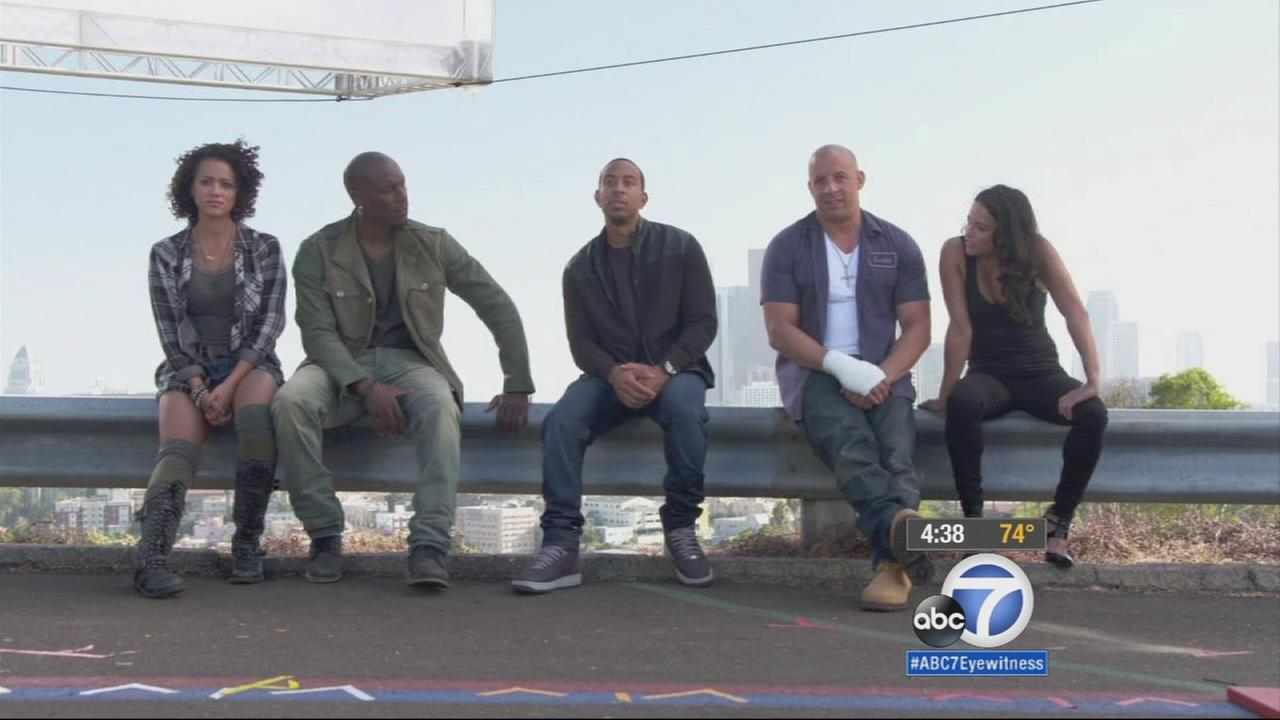 Stars of Furious 7 say they are proud to share one last ride with Paul Walker and the dedicated fans of their successful film franchise.