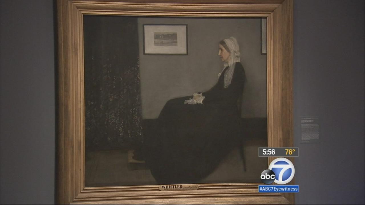 Three famous paintings on loan from France will be in an exhibit Friday at Pasadenas Norton Simon Museum, including James Whistlers portrait of his mother.