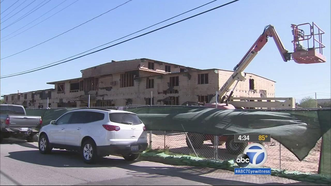 Residents in Riverside are restoring a World War II landmark by building apartments for service-disabled veterans.