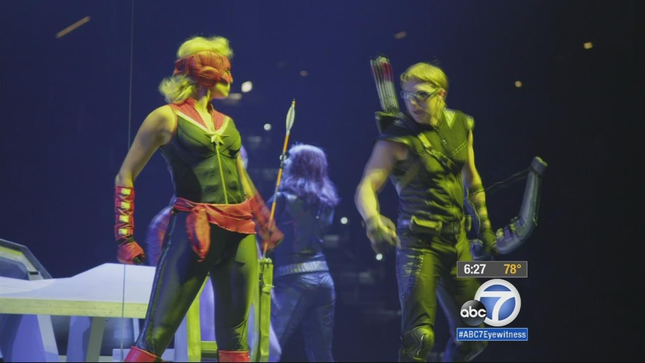 Superheroes are taking over the Anaheim Honda Center as part of the Marvel Universe Live show.