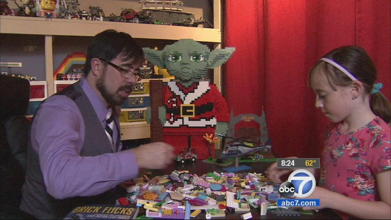 Paul Hollingsworth and his daughter, Hailey, create Lego movies that they post on YouTube.