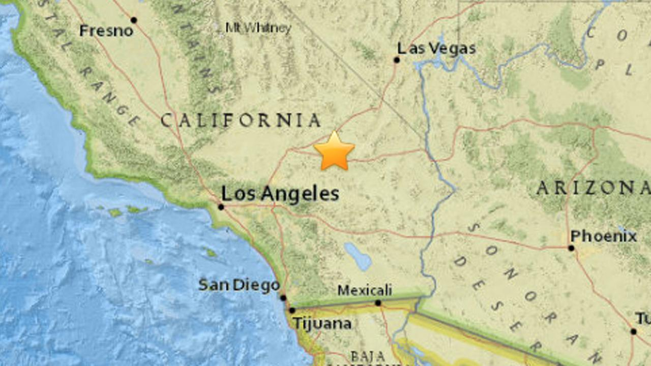 A 4.0 magnitude earthquake struck about eight miles northwest of Ludlow, a small town in San Bernardino County on Monday, March 30, 2015.