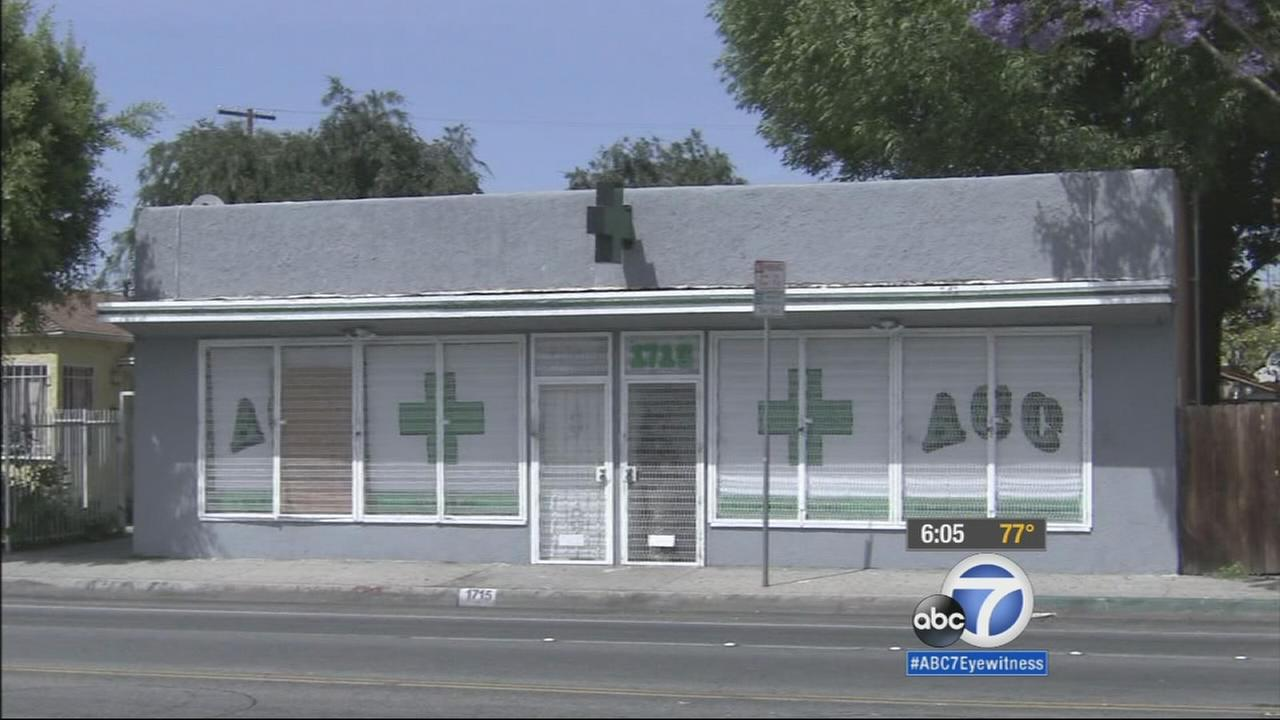 The City of Compton passed an ordinance banning medical marijuana dispensaries eight years ago, but illegal shops are still a problem, especially near schools.