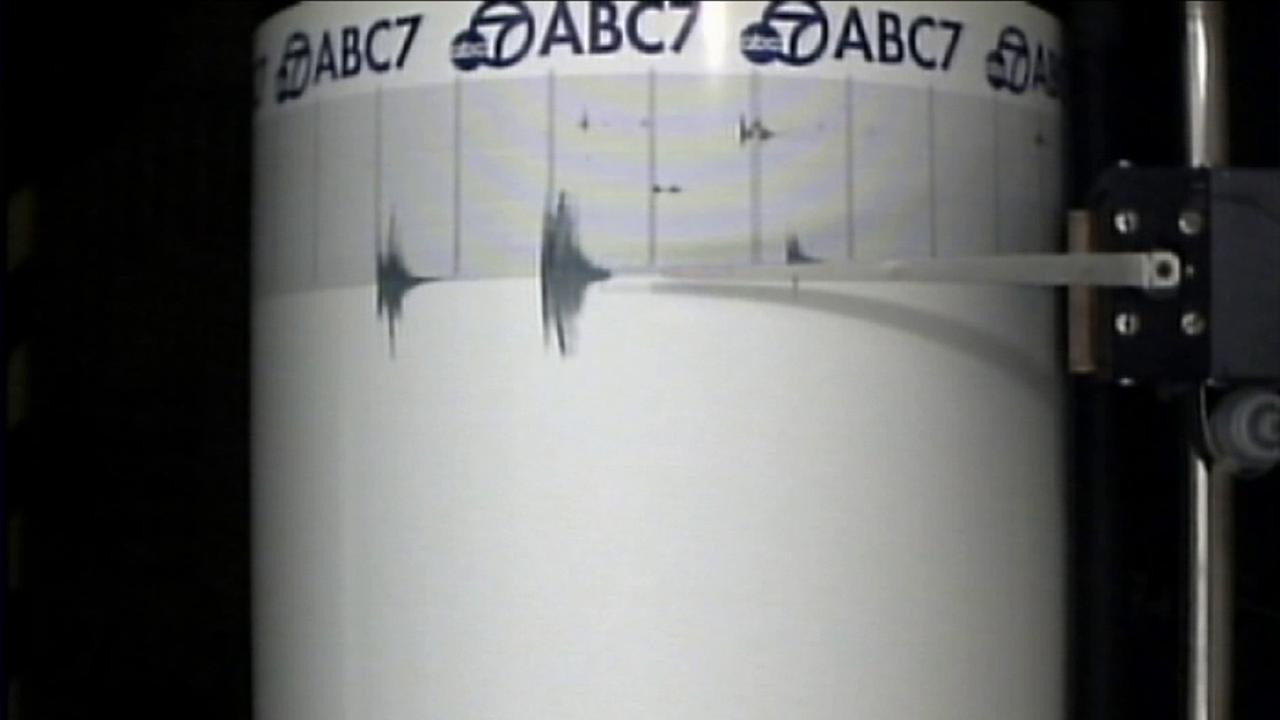 The ABC7 Quake Cam shows shaking from three small earthquakes that hit the Santa Clarita area on Saturday, April 4, 2015.