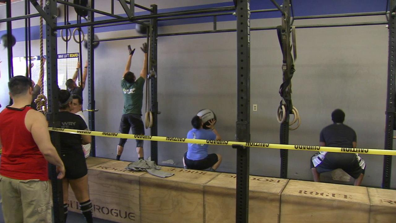 Competitors attended a fundraiser event at Shield Crossfit in Covina and challenged themselves with a power ball workout on Saturday, April 4, 2015.