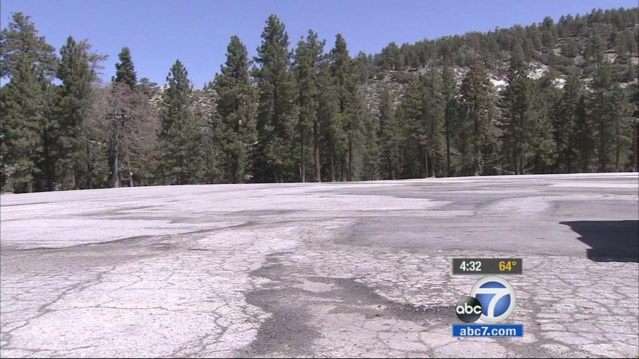 For residents in San Bernardino County, Wrightwood received some snow late Tuesday afternoon.