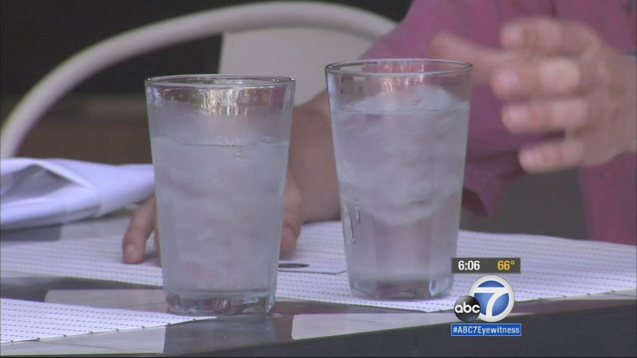 Two glasses of ice water are shown in this undated file photo.