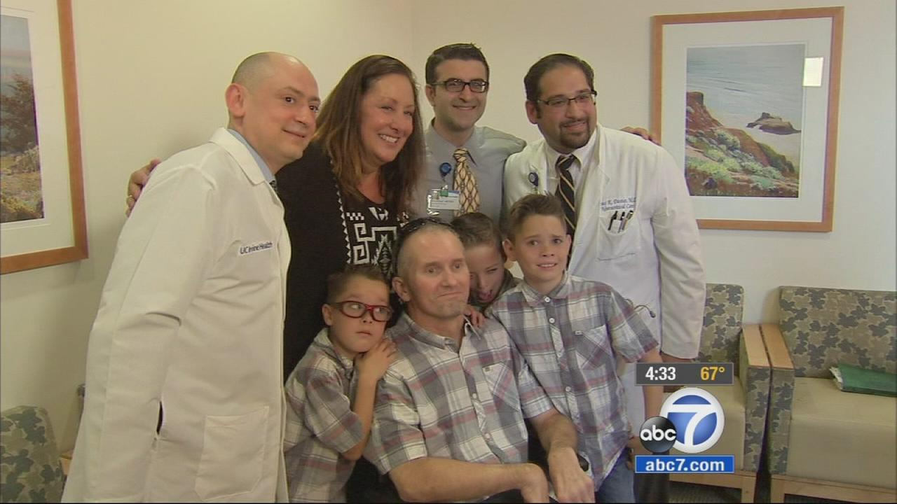 Marc Kaiser, his family and his medical team at UC Irvine reunited Friday, April 10, 2015.
