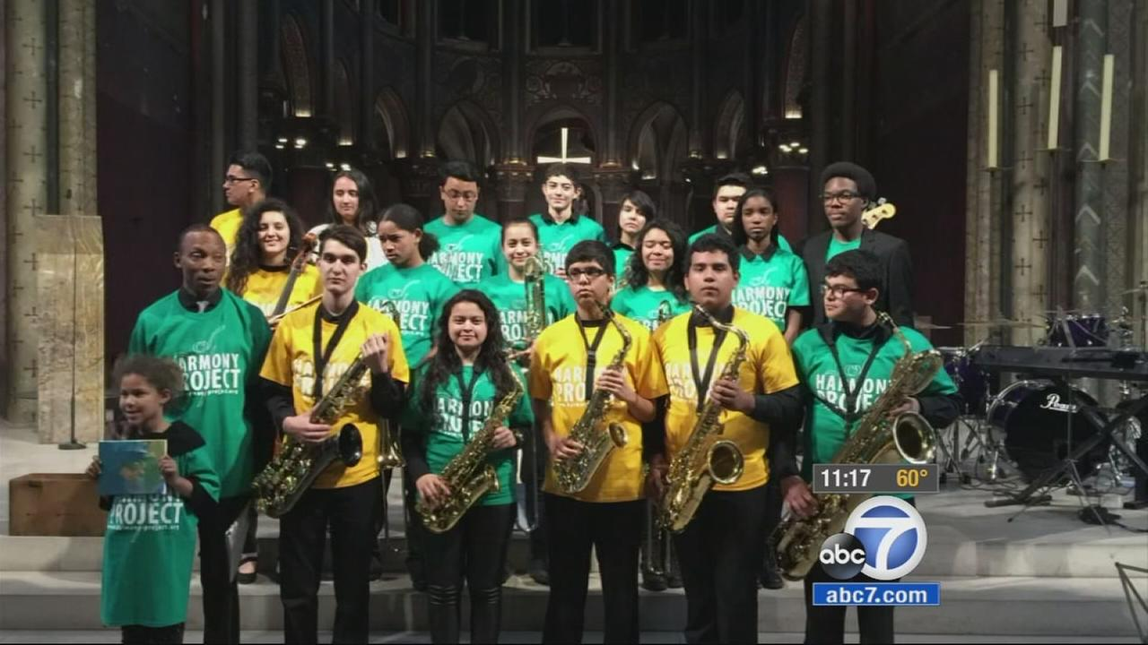 Jazz band students from Foshay Learning Center in South Los Angeles visit France.