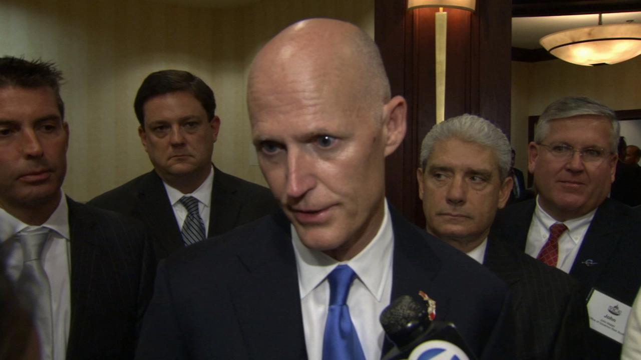 Florida Gov. Rick Scott said his state is better for families and businesses than California.