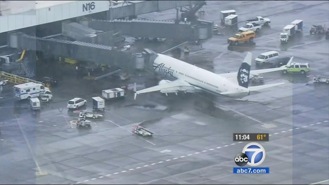 An Alaska Airlines flight bound for Los Angeles made an emergency landing Monday after the pilot reported hearing banging from beneath the plane, airline officials said.
