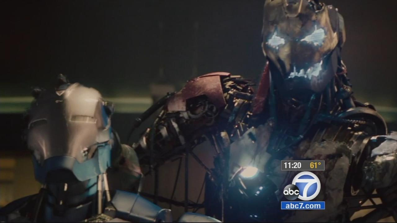 A screenshot from the film Avengers: Age of Ultron is shown.