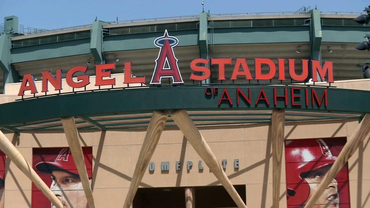 Angel Stadium in Anaheim is shown in this undated file photo.