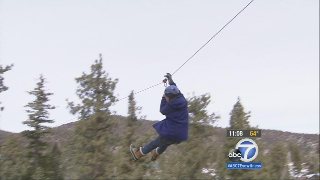 A zip line is shown in this undated file photo.