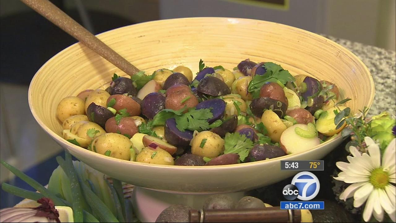 Manuel Villacortas purple potato salad is shown in this undated file photo.