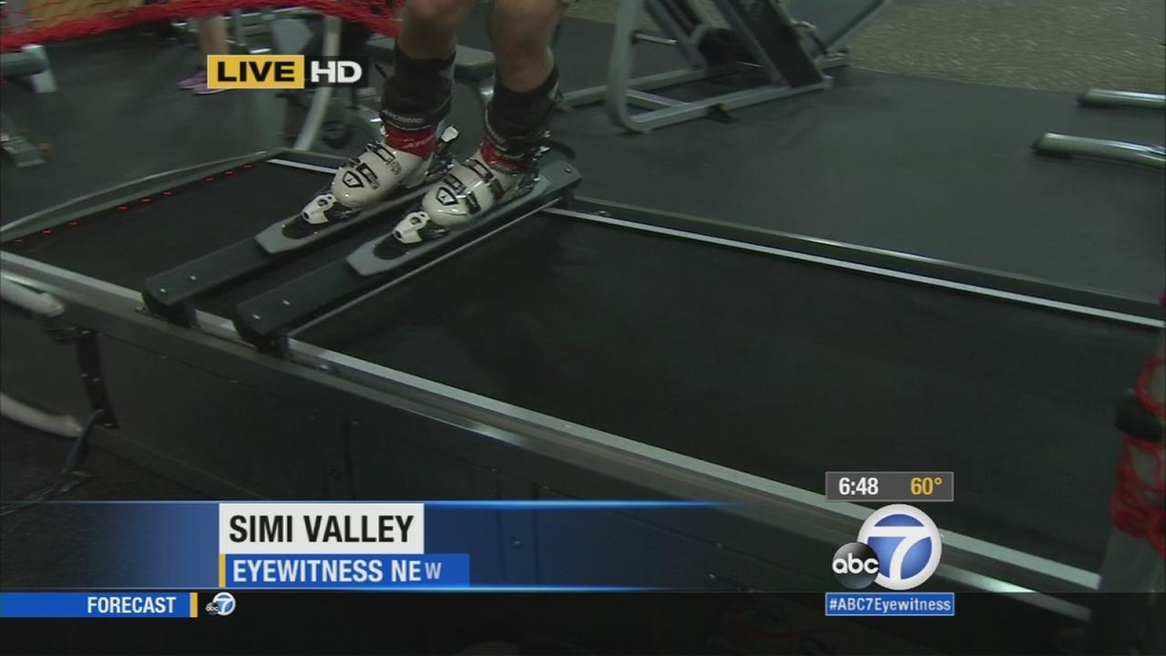 High-tech skiing and snowboarding machine provides a snow-free way to enjoy winter workouts.