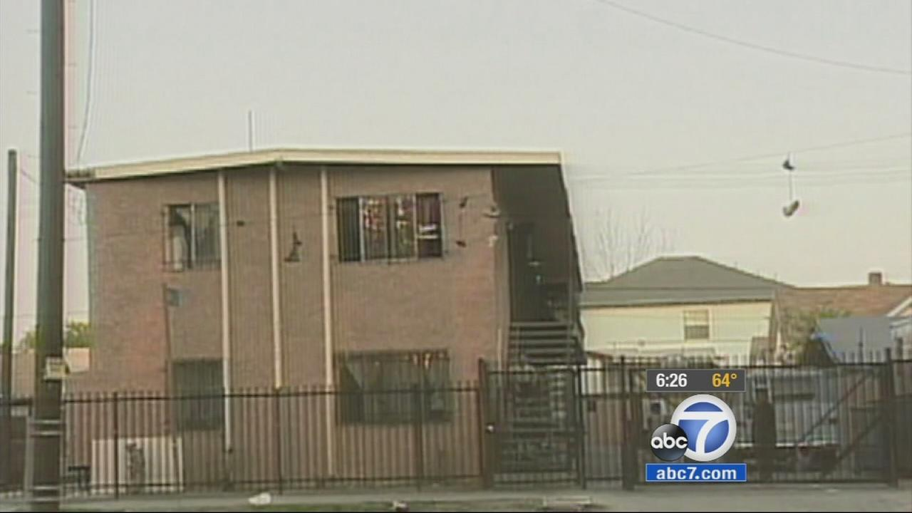 A building in South Los Angeles is shown in this undated file photo.