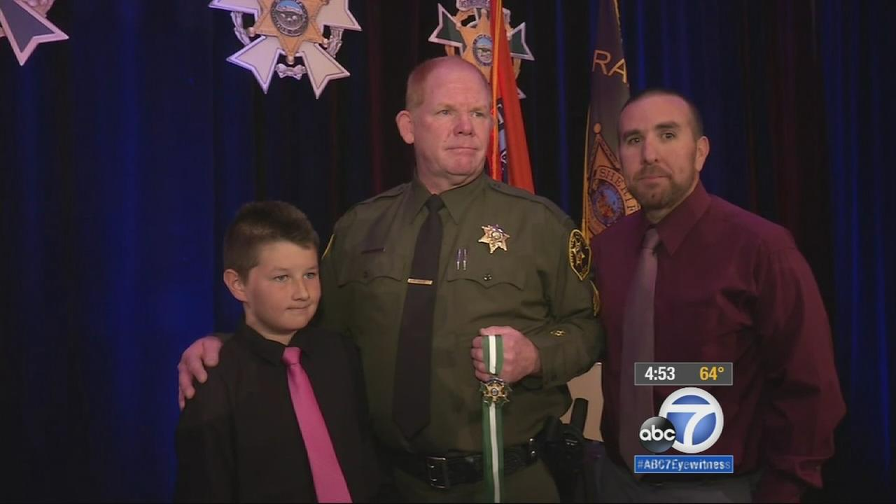 An Orange County sheriffs deputy was honored Thursday at an annual ceremony for saving a 10-year-old boys life.