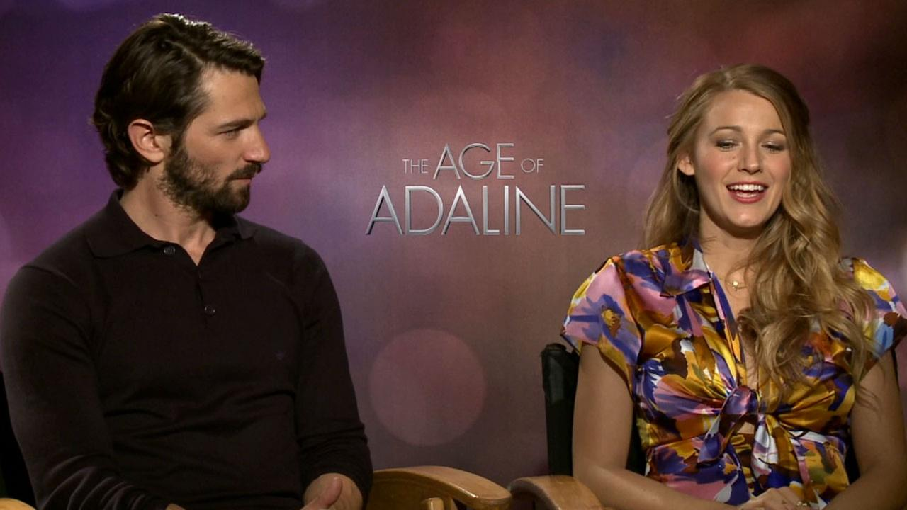 Age of Adaline stars Blake Lively and Michiel Huisman discuss the romantic movie in this undated photo.