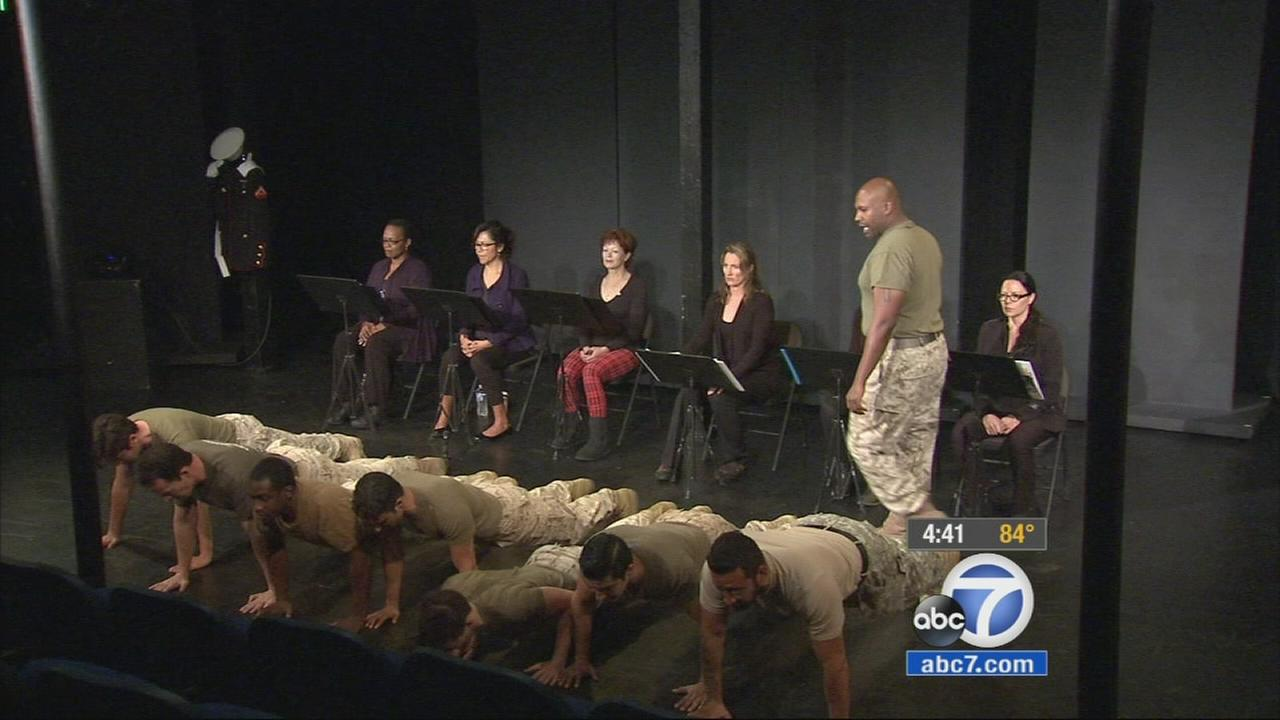 A new play in Hollywood tells the true stories of mothers whose lives were changed when their sons and daughters were sent to fight in Iraq and Afghanistan.