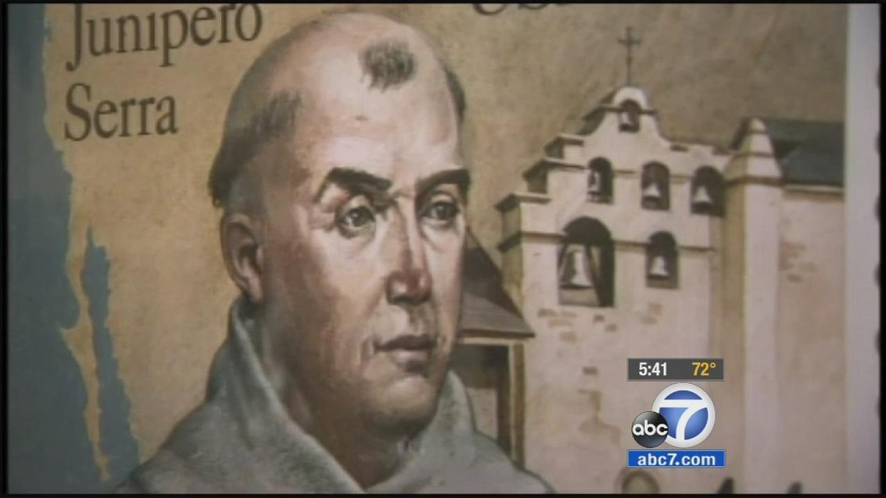 An artists depiction of Father Junipero Serra is shown in this undated file photo.