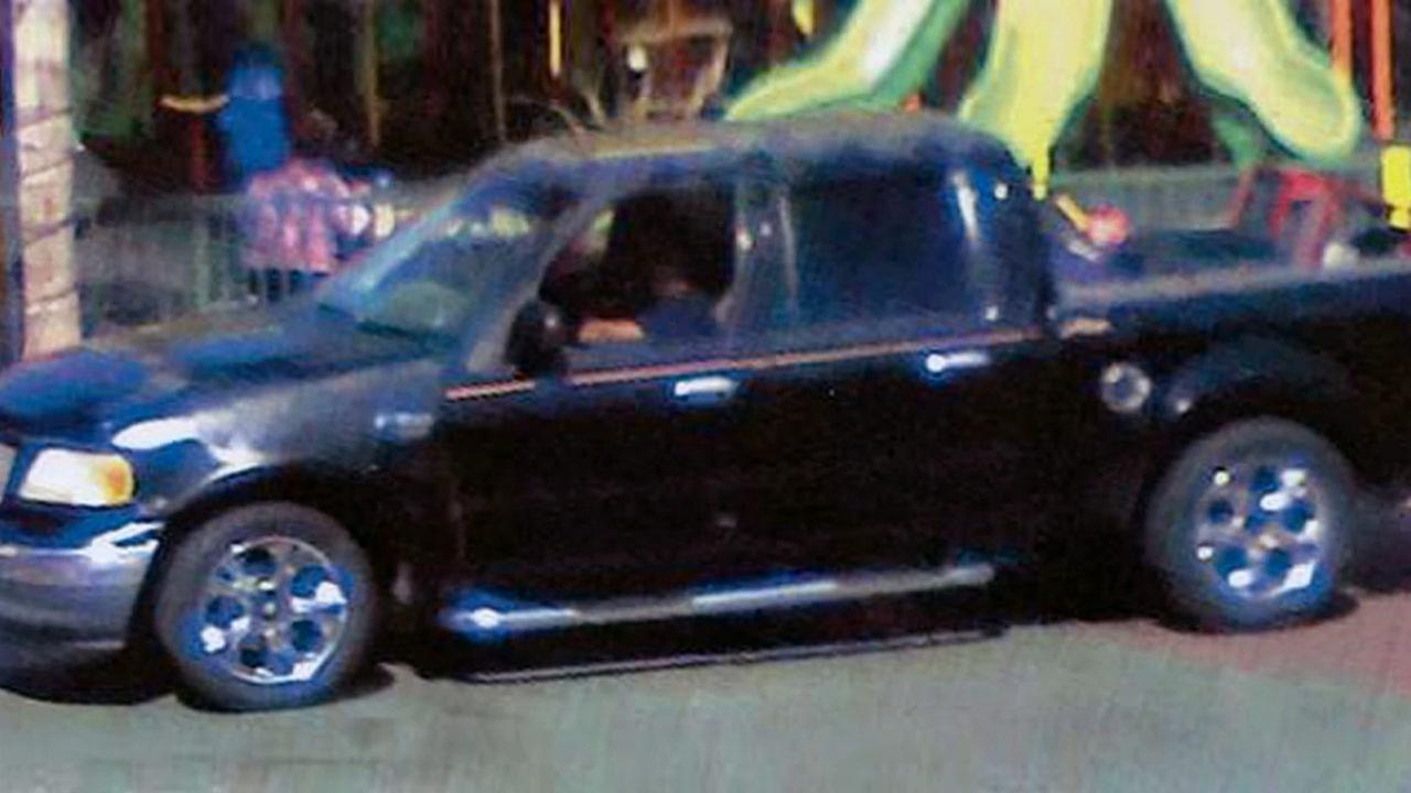 A couple in a black Ford F-150, shown above, are robbing women who walk alone in Panorama City.
