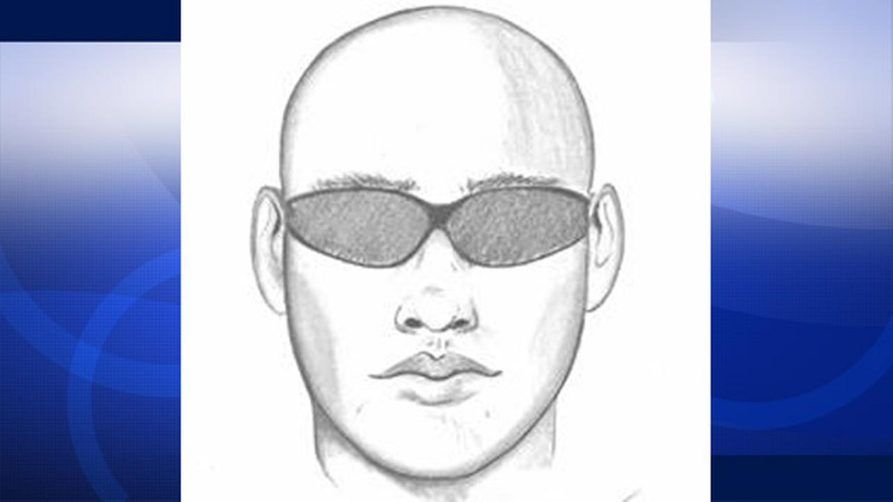 A sketch of the man suspect of attempting to abduct an 11-year-old girl in a Tustin neighborhood is shown above.