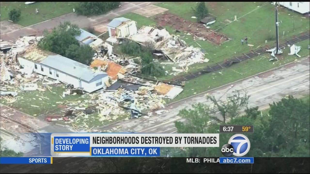 Authorities are investigating the damage left behind by spring storms carrying more than a dozen suspected tornadoes that swept across the southern Plains.