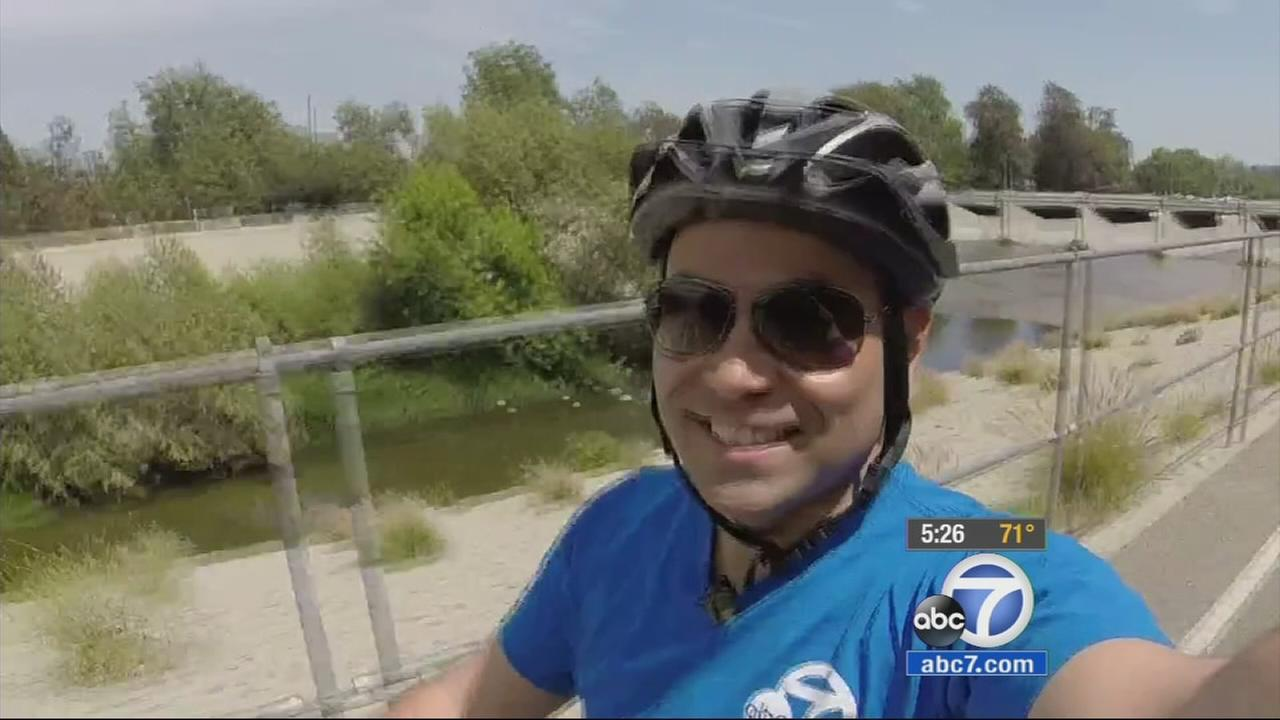 In the spirit of Bike to Work Week, ABC7 reporter Robert Holguin rode from downtown Los Angeles to Glendale, which is about an 11 mile trip.