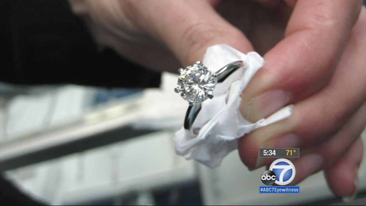 A woman participating in the Neverland 5K at Disneyland on Friday morning lost her half carat diamond that was mounted in a special engagement ring.