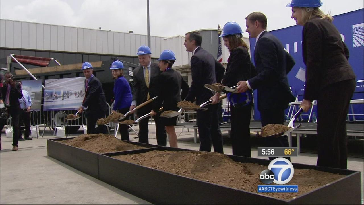 A major project is getting underway at Los Angeles International Airport that aims to change the traveling experience for customers of United Airlines.