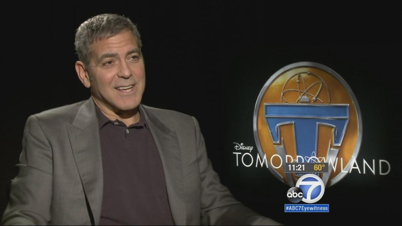 George Clooney promotes his film Tomorrowland.