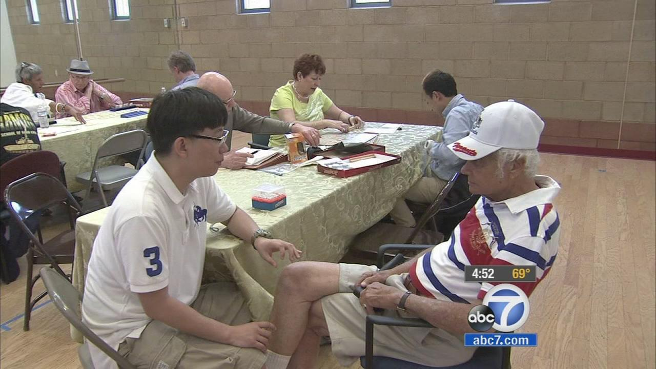Seniors from UCLA are interacting with seniors from an adult day care center in West Los Angeles as part of a unique intergenerational senior partnership.