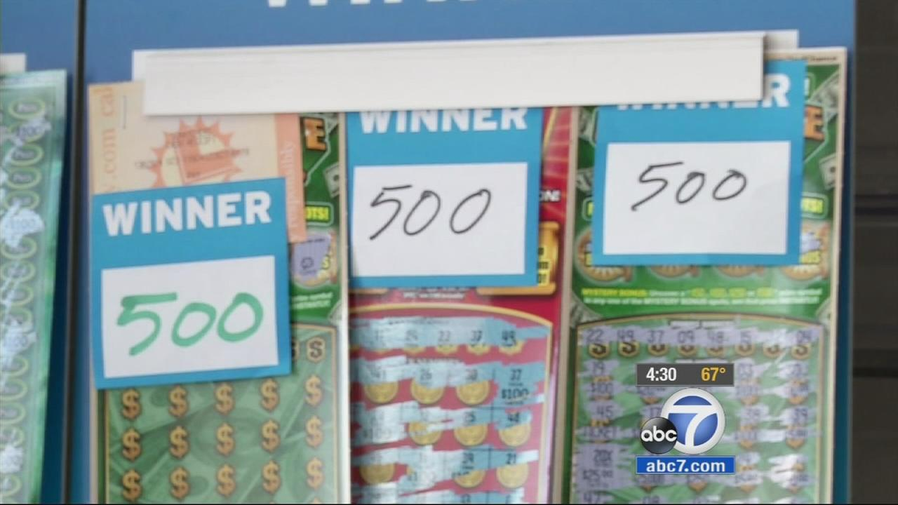 Winning lottery tickets are shown in this undated file photo.