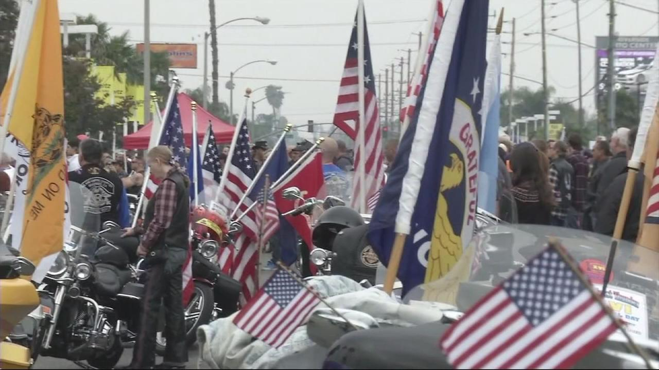 Thousands of motorcyclists roared through Riverside on Monday, May 25, 2015, in a special Memorial Day tribute to military veterans.