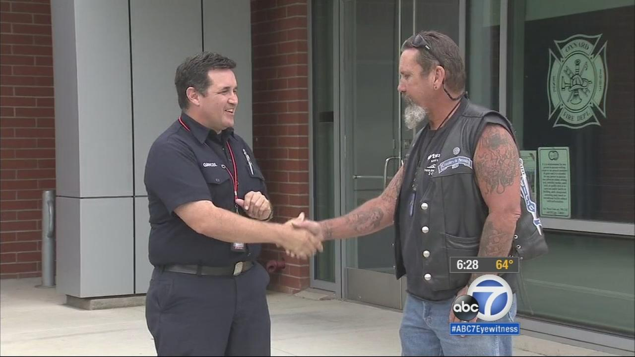 Boyd Tarwater is being called a hero after his quick thinking and training as a former U.S. Navy sailor saved a 22-year-old man from drowning at an Oxnard beach.