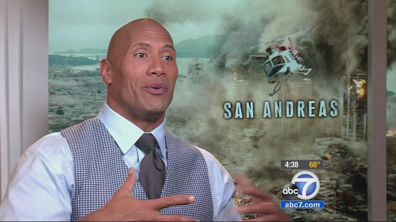 Dwayne The Rock Johnson talks about the new thriller, San Andreas.