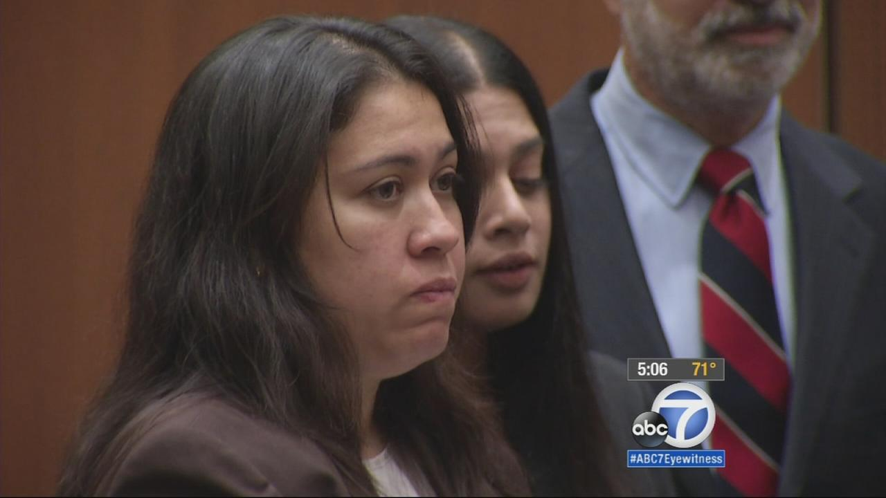 Lyvette Crespo, the widow of former Bell Gardens Mayor Daniel Crespo appeared in a Los Angeles court Friday, May 29, 2015, on voluntary manslaughter charges in her husbands death.
