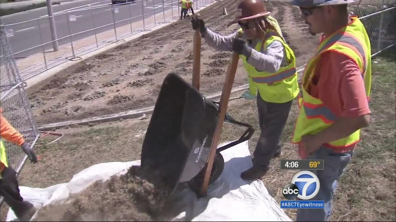 The city of San Clemente is trying to save water by getting rid of grass, as the state enters a fourth year of drought.