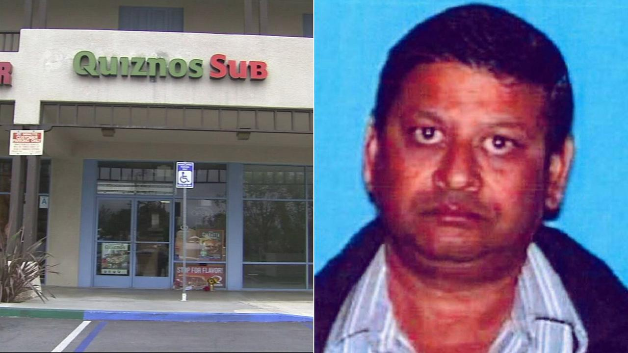 Pravin Patel, a Quiznos store owner, died after being shot during a confrontation with a robbery suspect in San Dimas on Tuesday, June 2, 2015.