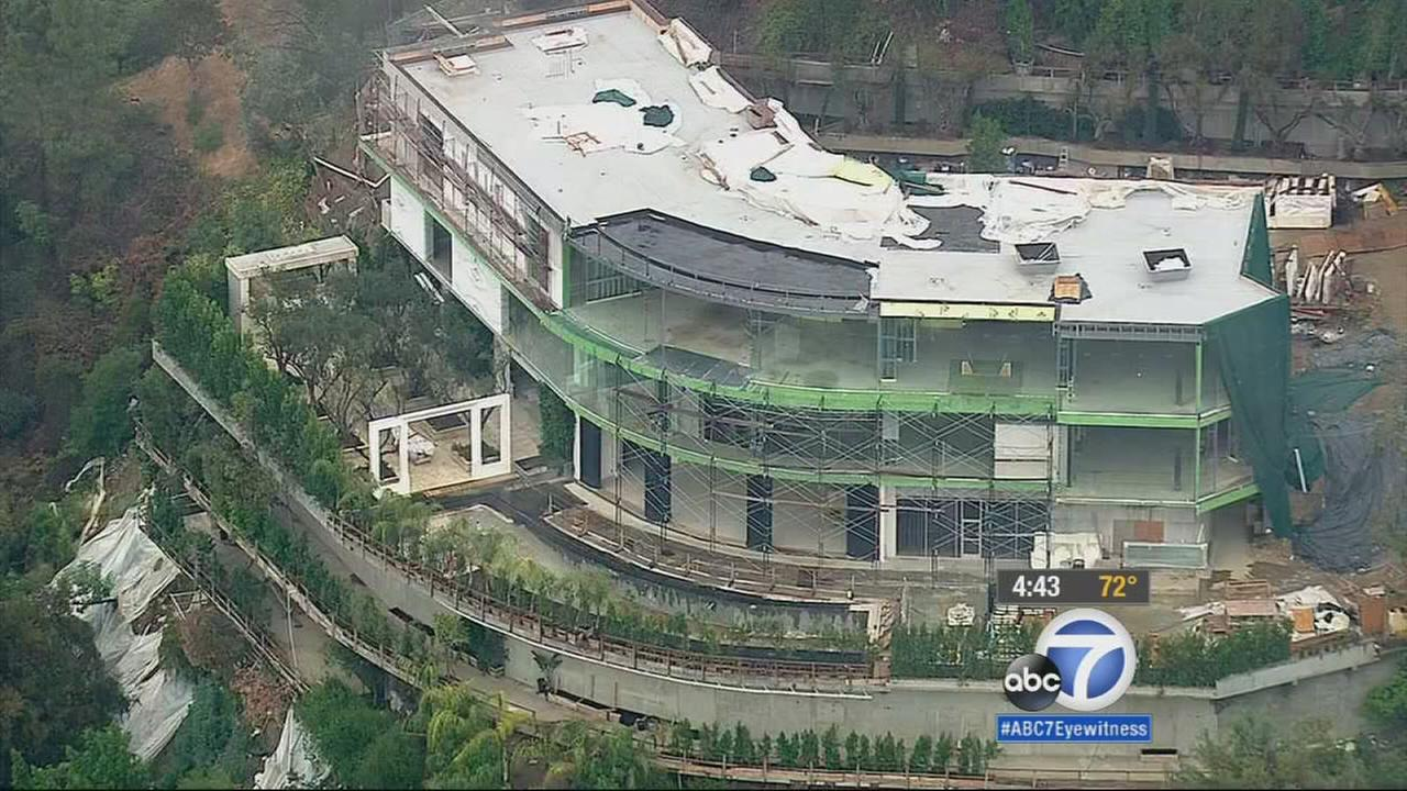 A mansion in Bel Air has come under fire from neighbors and city officials because of its massive size.