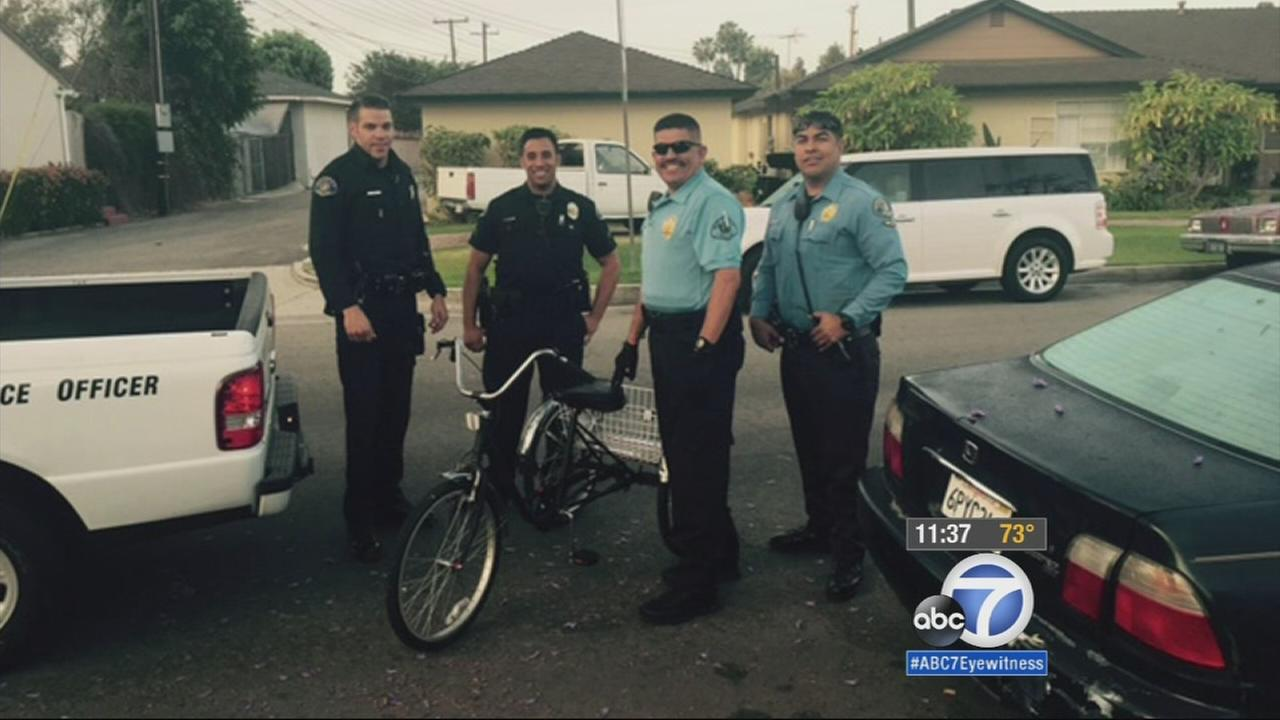 A tricycle that was stolen from an 11-year-old girl with autism in Whittier was found on Monday, June 8, 2015.
